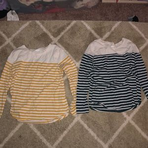 Old navy 3/4 striped shirts